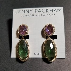 Jenny packham clip earrings